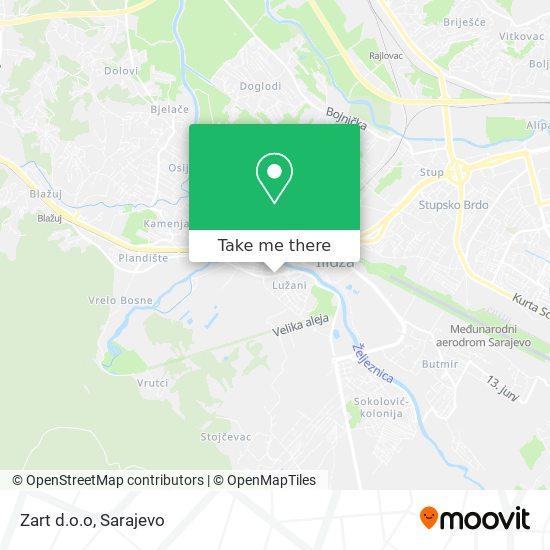 Zart d.o.o map