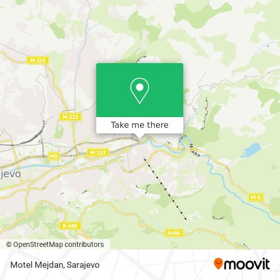 Motel Mejdan map