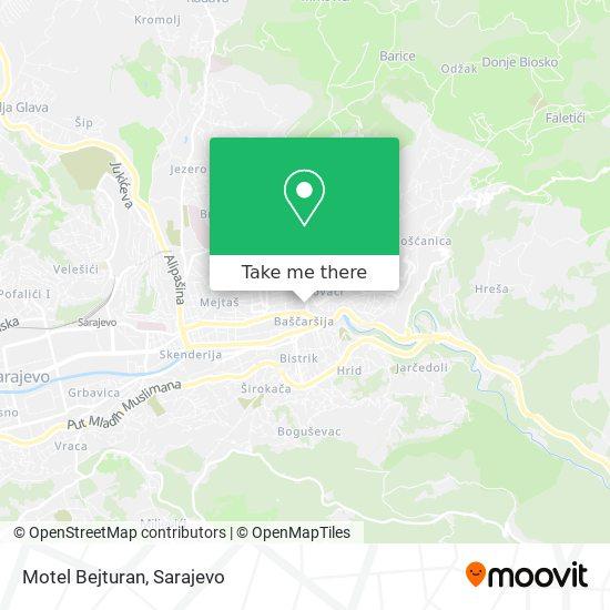 Motel Bejturan map