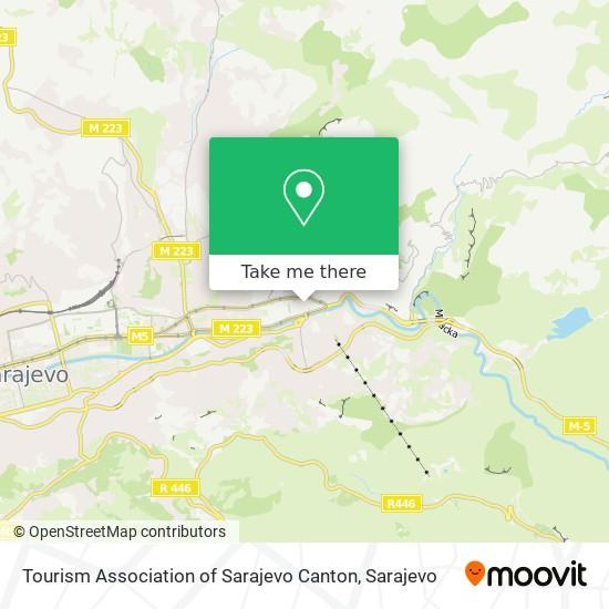 Tourism Association of Sarajevo Canton map