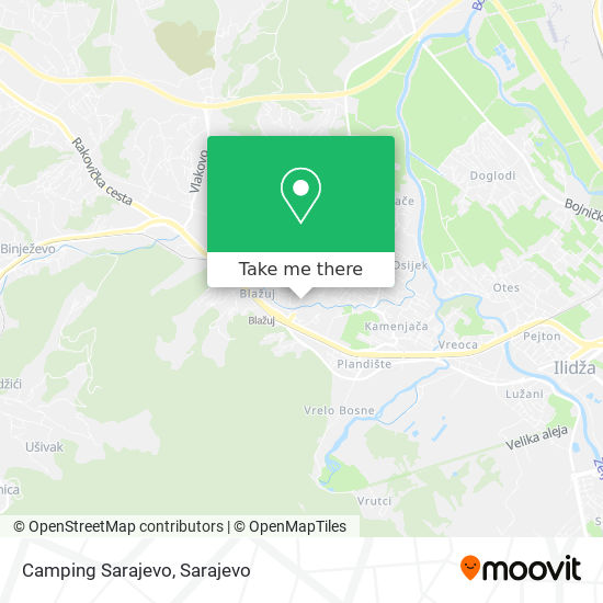 Camping Sarajevo map