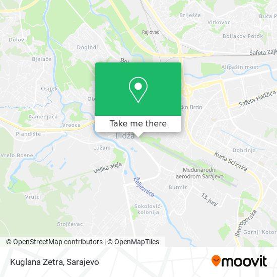 Kuglana Zetra map