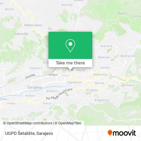 UGPD Šetalište map