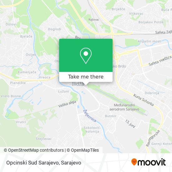 Opcinski Sud Sarajevo map