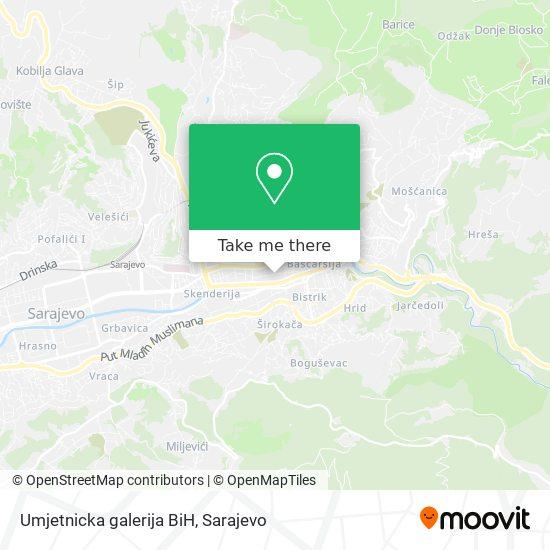 Umjetnicka galerija BiH map