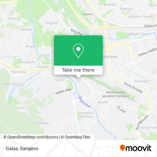 Galas map