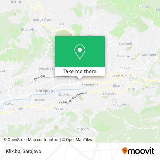 Klix.ba map
