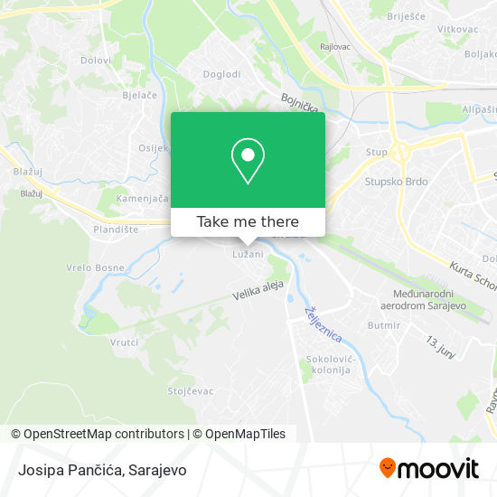 Josipa Pančića map