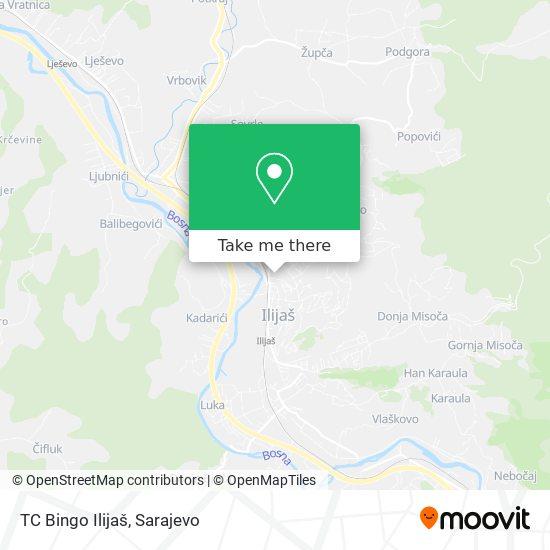 TC Bingo Ilijaš map