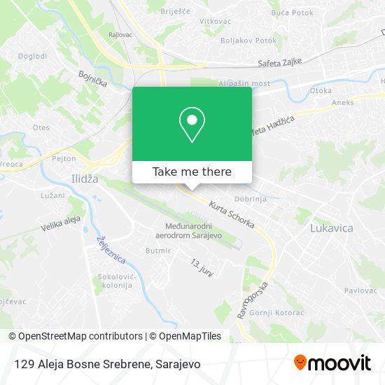 129 Aleja Bosne Srebrene map