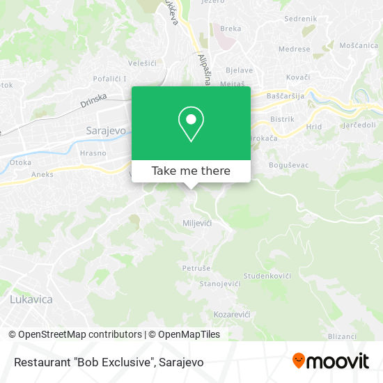 "Restaurant ""Bob Exclusive"" map"