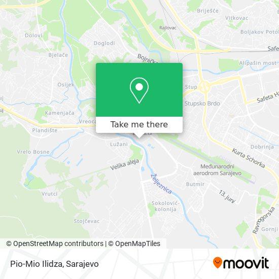 Pio-Mio Ilidza map