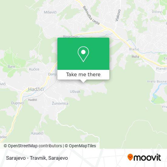 Sarajevo - Travnik map
