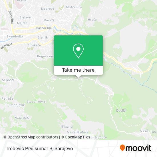 Trebević Prvi šumar B map