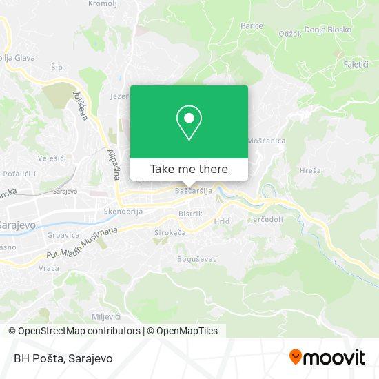 BH Pošta map