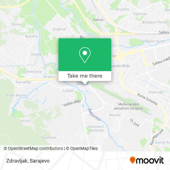 Zdravljak map