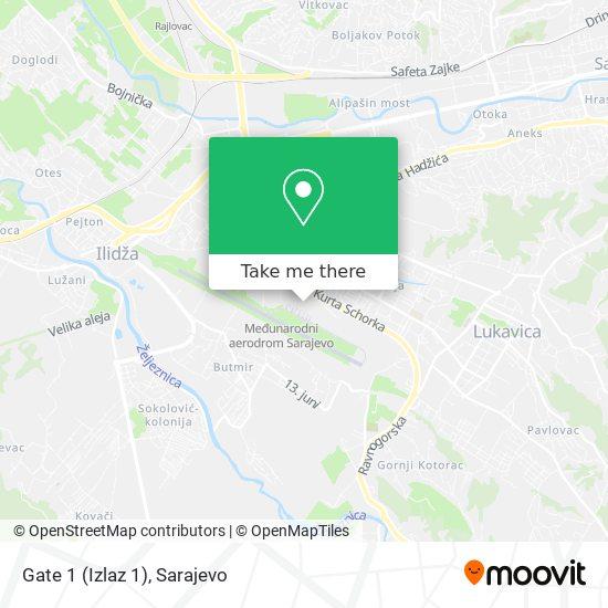 Gate 1 (Izlaz 1) map