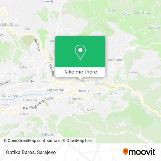 Optika Baros map