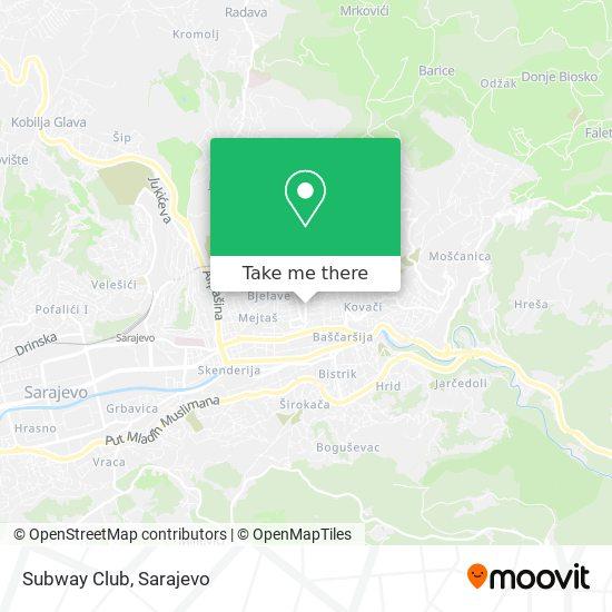 Subway Club map