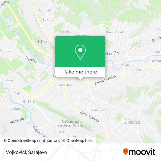 Vojkovići map