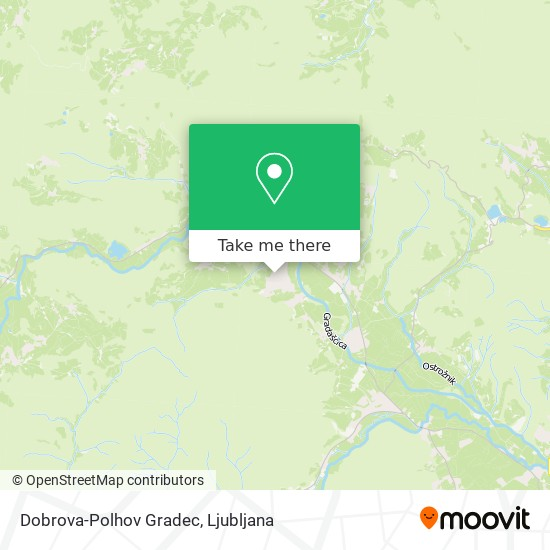 Dobrova-Polhov Gradec map