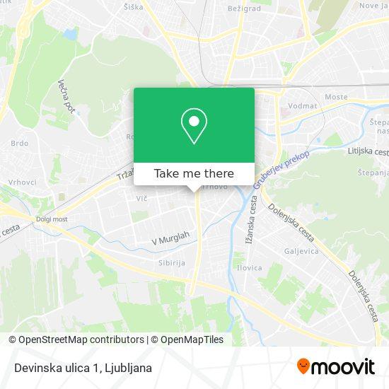 Devinska ulica 1 map