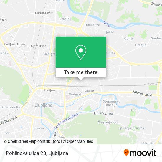 Pohlinova ulica 20 map