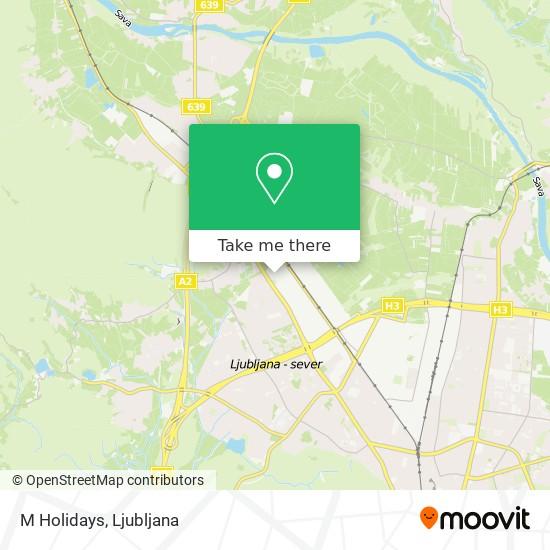 M Holidays map
