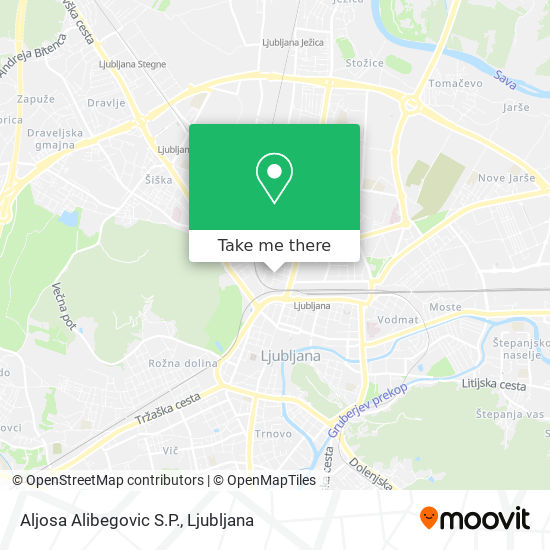 Aljosa Alibegovic S.P. map
