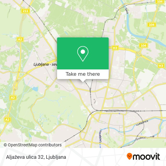 Aljaževa ulica 32 map