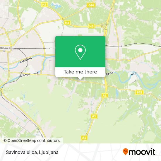 Savinova ulica map