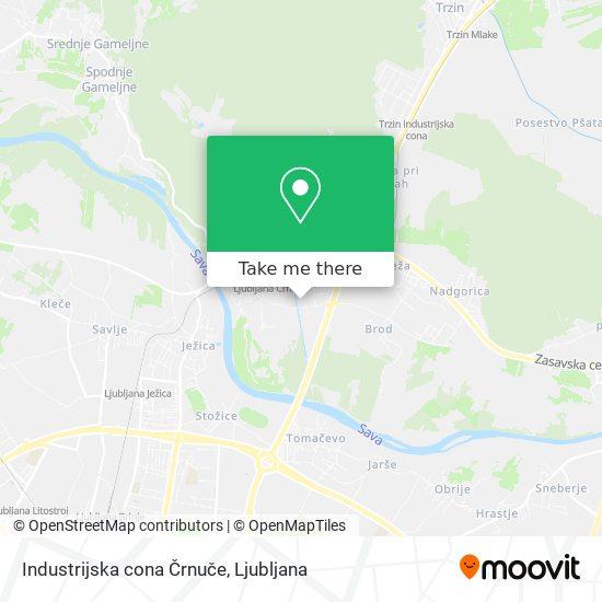 Industrijska cona Črnuče map
