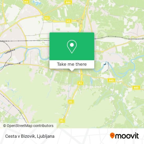 Cesta v Bizovik map