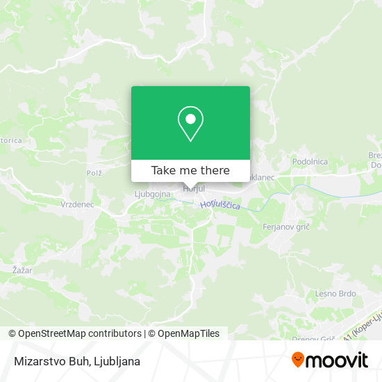 Mizarstvo Buh map