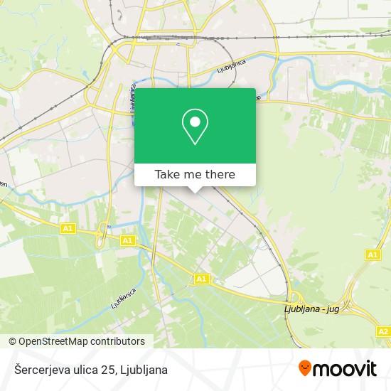 Šercerjeva ulica 25 map