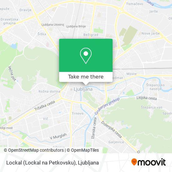 Lockal (Lockal na Petkovsku) map