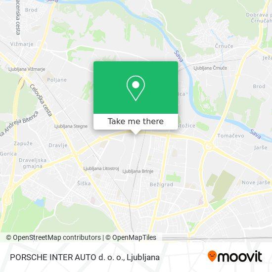 PORSCHE INTER AUTO d. o. o. map