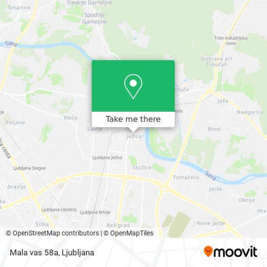 Mala vas 58a map