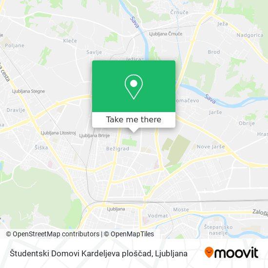 Študentski Domovi Kardeljeva ploščad map