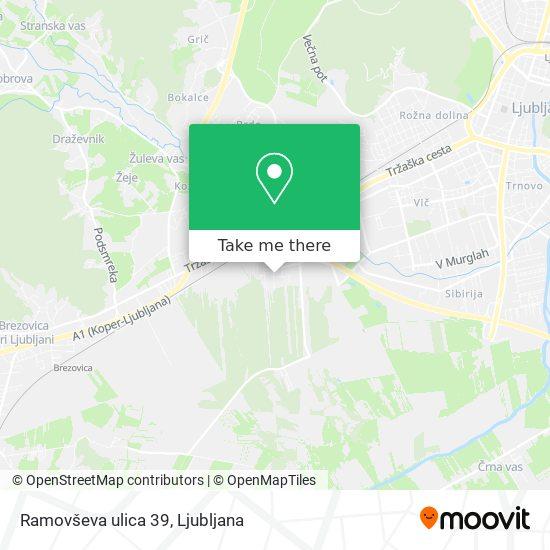 Ramovševa ulica 39 map