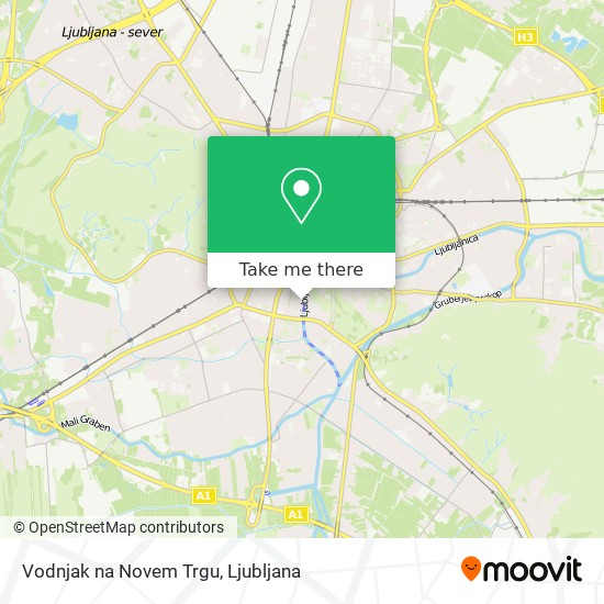 Vodnjak na Novem Trgu map