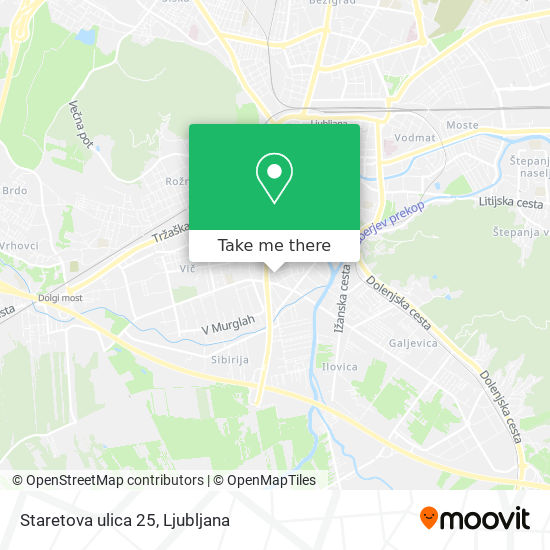 Staretova ulica 25 map