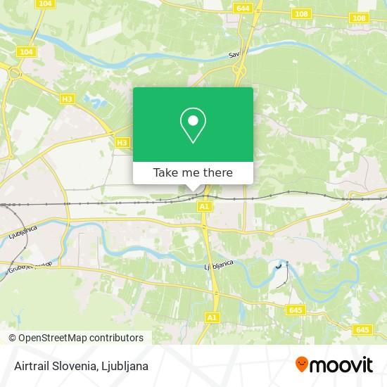 Airtrail Slovenia map