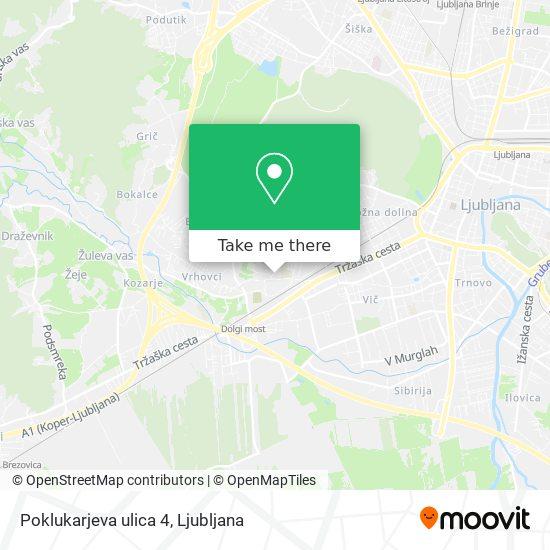 Poklukarjeva ulica 4 map