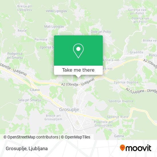 Grosuplje map