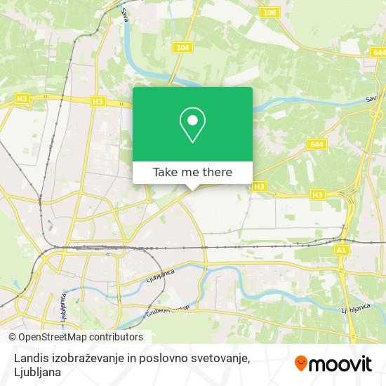 Landis izobraževanje in poslovno svetovanje map