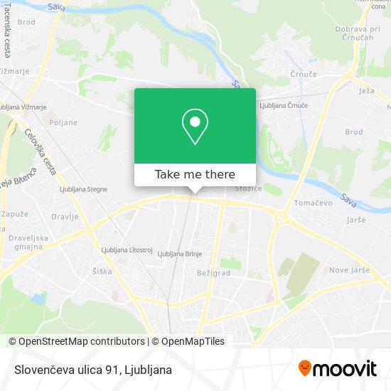 Slovenčeva ulica 91 map