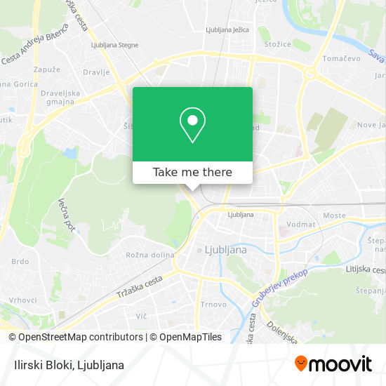 Ilirski Bloki map