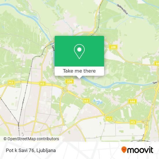 Pot k Savi 76 map