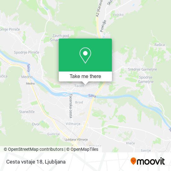 Cesta vstaje 18 map